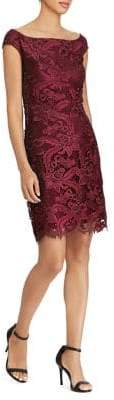 Lauren Ralph Lauren Scalloped-Lace Mini Dress