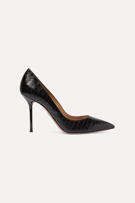 Aquazzura Purist Croc-effect Leather Pumps