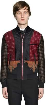 Alexander McQueen Patchwork Wool & Silk Bomber Jacket
