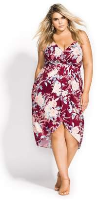 City Chic Citychic Rikka Floral Dress - currant