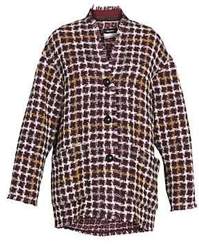 Isabel Marant Women's Dianaly Tweed Cocoon Jacket