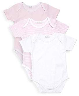 Kissy Kissy Baby Girl's Kissy Three-Piece Short-Sleeve Bodysuit Set