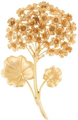 Oscar de la Renta geranium brooch