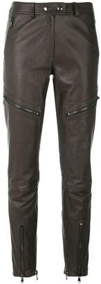 Moschino biker zip trousers