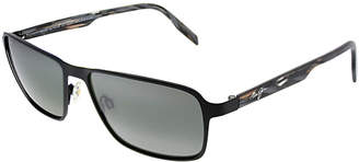 Maui Jim Unisex Glass Beach 57Mm Polarized Sunglasses