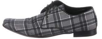 Dolce & Gabbana Plaid Derby Shoes