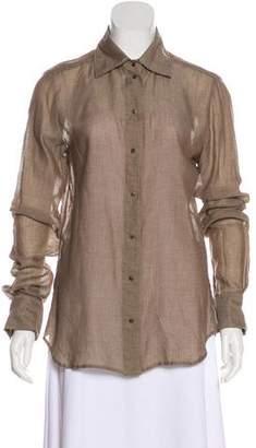 Stella McCartney Long Sleeve Button-Up Top