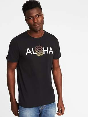 Old Navy Soft-Washed Aloha-Graphic Tee for Men