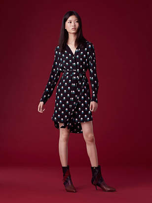 Diane von Furstenberg Long Sleeve Collared Shirt Dress