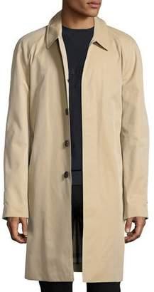 Burberry Oakham Gabardine Single-Breasted Car Coat, Honey (Beige)