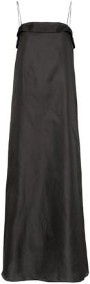 Deitas Coco spaghetti-strap shantung-silk dress