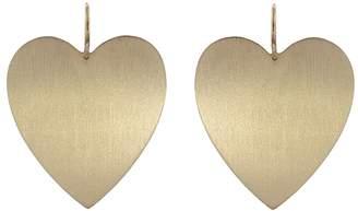 Irene Neuwirth Large Flat Heart Earrings - Rose Gold