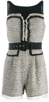 Elisabetta Franchi belted tweed playsuit