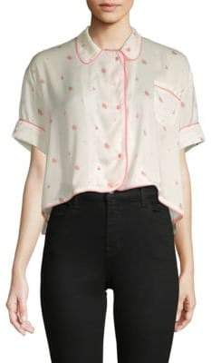 Wildfox Couture Floral Hi-Lo Top
