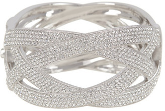 NADRI Encrusted Crystal Woven Wide Bangle $239.99 thestylecure.com