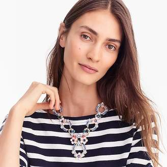 J.Crew Crystal and flower statement necklace