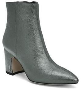 Sam Edelman Metallic Leather Booties