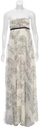 Marchesa Silk Strapless Dress