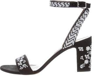 Tabitha Simmons Embroidered Wrap-Around Sandals