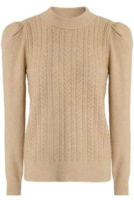 Co Metallic Cable-knit Sweater