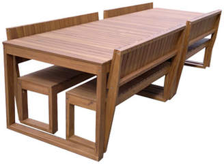 Large Lazy Boy Outdoor Table Set Variant: 8 Seater