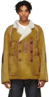 Maison Margiela Tan Shearling Jacket
