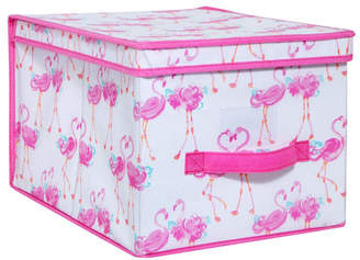 Laura Ashley Large Collapsible Storage Box in Pretty Flamingo