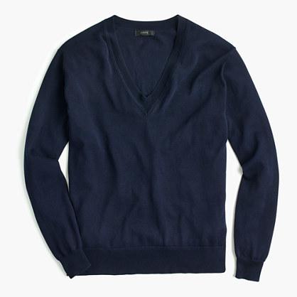 J.CrewV-neck sweater in summerweight cotton