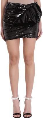 Alexandre Vauthier Asymmetric Black Sequins Skirt