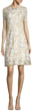 Elie Tahari Floral Lace Dress $598 thestylecure.com