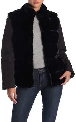 Via Spiga Reversible Faux Fur Jacket