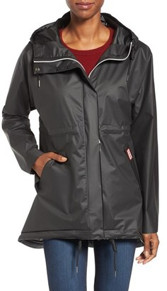 Women's Hunter 'Original Smock' Hooded Drawstring Waterproof Jacket $230 thestylecure.com