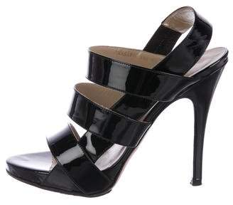 Valentino Patent Leather Multistrap Sandals
