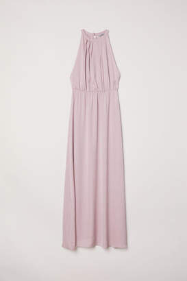 H&M Long Dress with Lace Back - Pink