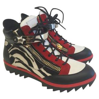 Giuseppe Zanotti Exotic leathers high trainers
