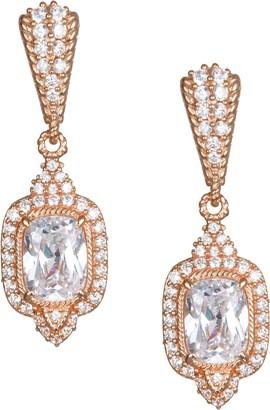 Judith Ripka Sterling & 14K Clad 4.35 cttw Diamonique Earrings