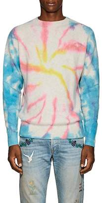 The Elder Statesman Men's Tie-Dyed Mélange Cashmere Crewneck Sweater