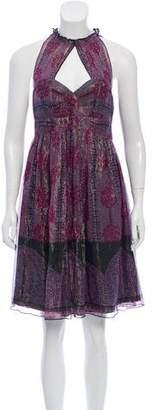 Anna Sui Printed Metallic Dress