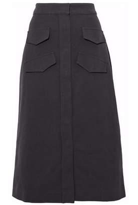 Vilshenko Cotton And Linen-Blend Twill Midi Skirt