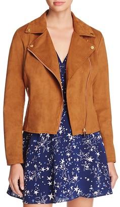 Bagatelle Faux Suede Moto Jacket $98 thestylecure.com