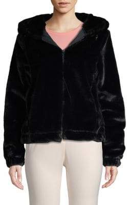 Andrew Marc Hooded Faux Fur Jacket