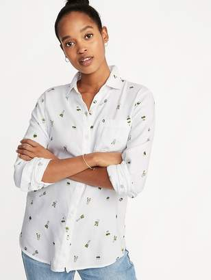 Old Navy Relaxed Classic Button-Front Shirt for Women
