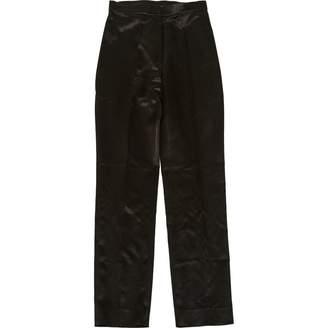 Anna Molinari Black Polyamide Trousers