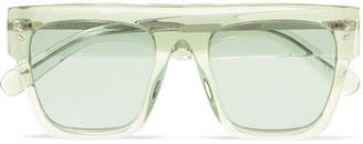 Stella McCartney Icy Ice Square-frame Acetate Sunglasses - Green