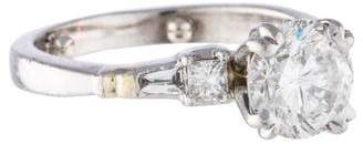 Ring Platinum 1.79 Carat Diamond Engagement