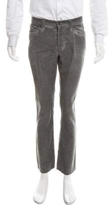 John Varvatos Flat Front Linen-Blend Pants