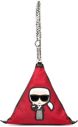 Karl Lagerfeld Ikonik triangular bag