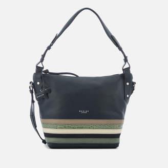 Radley Women's Eltham Palace Stripe Medium Shoulder Bag with Zip Top - Ink