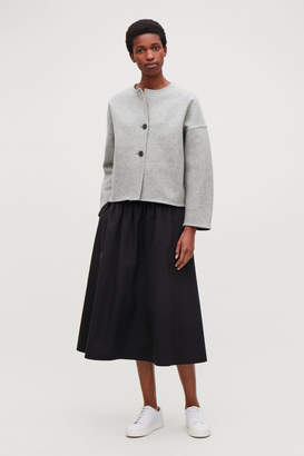 Cos OVERSIZED BOILED-WOOL JACKET