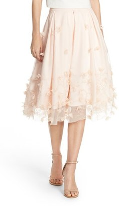Women's Eliza J Floral Applique Ball Skirt $168 thestylecure.com